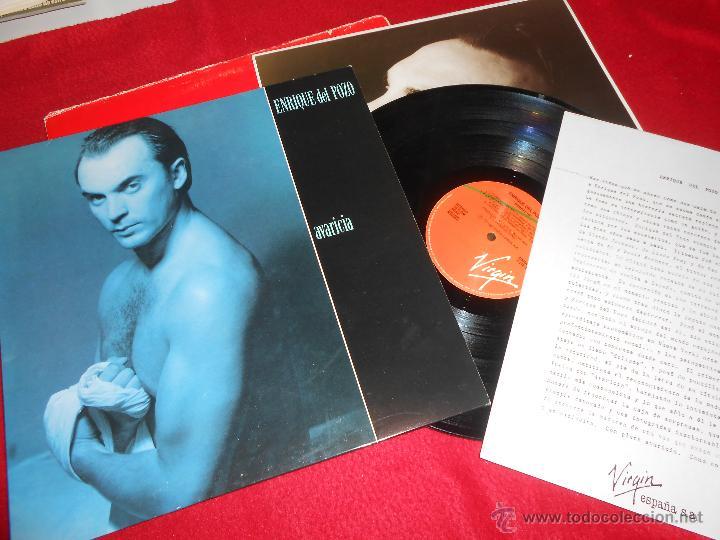 Discos de vinilo: ENRIQUE DEL POZO Avaricia LP 1991 Virgin + FOLDER PROMOCIONAL + HOJA PROMO - Foto 2 - 50478344