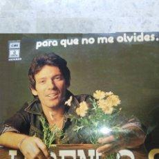 Discos de vinilo: LORENZO SANTAMARIA PARA QUE NO ME OLVIDES LP VARIAS CANCIONES. Lote 50478619