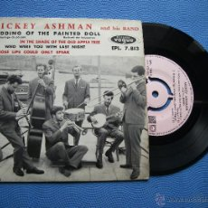 Discos de vinilo: MICKEY ASHMAN AND HIS BAND WEDDING OF THE PAINTED DOLL EP FRANCIA PDELUXE. Lote 50480311