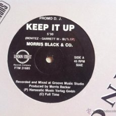 Discos de vinilo: MAXI MORRIS BLACK & CO.-KEEP IT UP. Lote 128102658