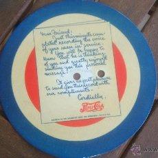 Discos de vinilo: DISCO PUBLICITARIO PEPSI-COLA MUY ANTIGUO CARTON CON MICROSURCO CON LOS ANUNCIOS. NO REPRODUCIBLE PO. Lote 50484547