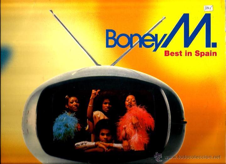 MAXI BONEY M. ; BEST IN SPAIN ( MEGA MIX ) (Música - Discos de Vinilo - Maxi Singles - Disco y Dance)