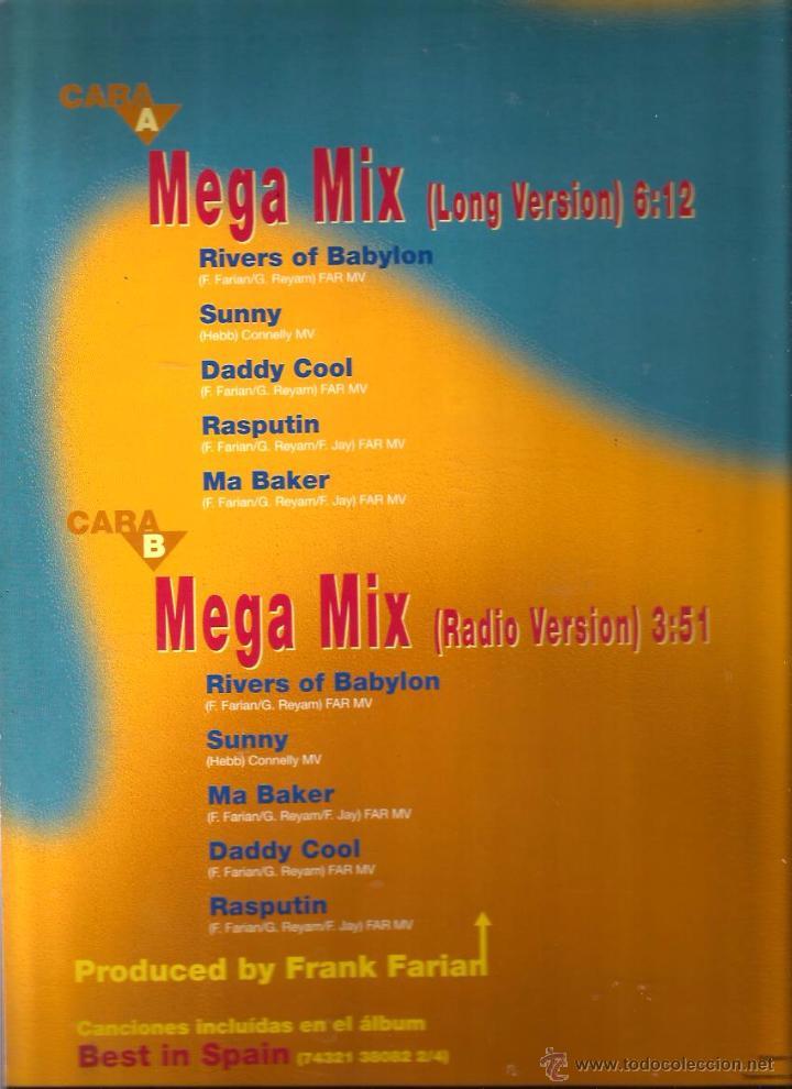 Discos de vinilo: MAXI BONEY M. ; BEST IN SPAIN ( MEGA MIX ) - Foto 2 - 50485172