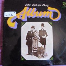 Discos de vinilo: LP - PETER, PAUL AND MARY - ALBUM (SPAIN, WB RECORDS 1967). Lote 50498202
