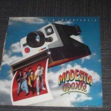 Discos de vinilo: MODESTIA APARTE - HISTORIAS SIN IMPORTANCIA - MADE IN SPAIN - MERCURY - 1991 - IBL -. Lote 50499988