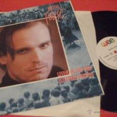 Discos de vinilo: MIGUEL BOSE, MAXI SINGLE VINILO, LIVING ON TE WIRE, 3 TEMAS, EN INGLES, ENGLISH. Lote 50502009