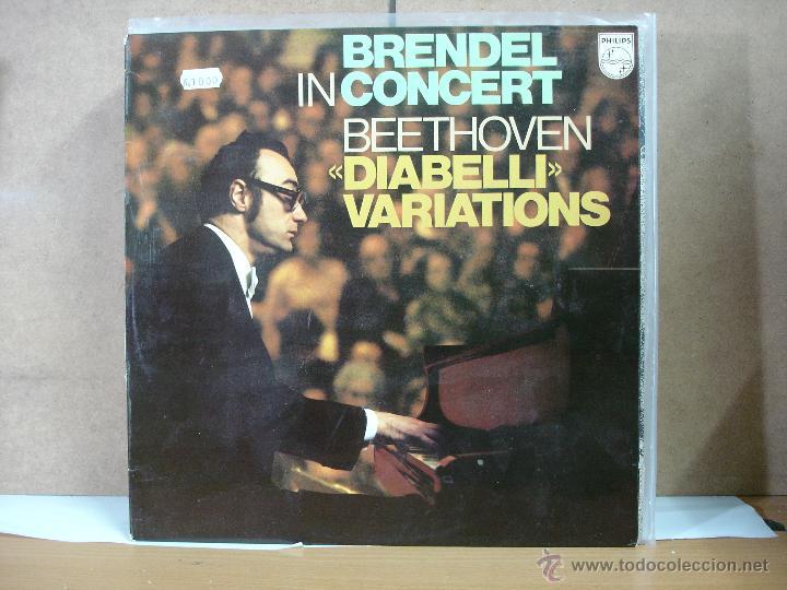 BEETHOVEN - DIABELLI VARIATIONS. BRENDEL IN CONCERT - PHILIPS 95 00 381 - 1979 (Música - Discos - LP Vinilo - Clásica, Ópera, Zarzuela y Marchas)