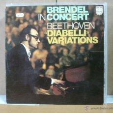 Discos de vinilo: BEETHOVEN - DIABELLI VARIATIONS. BRENDEL IN CONCERT - PHILIPS 95 00 381 - 1979. Lote 50503465