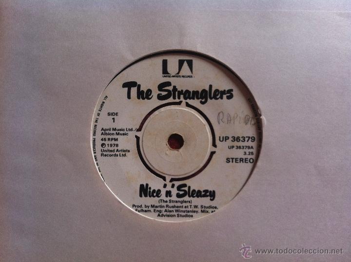 SINGLE THE STRANGLERS-NICE N SLEAZY (Música - Discos de Vinilo - Maxi Singles - Pop - Rock Internacional de los 70)
