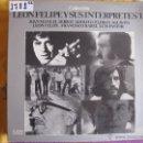 Discos de vinilo: LP - LEON FELIPE Y SUS INTERPRETES VOL. 1 - VARIOS (SPAIN, MOVIEPLAY 1976, PORTADA DOBLE). Lote 50528699