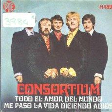 Discos de vinilo: CONSORTIUM / TODO EL AMOR DEL MUNDO / ME PASO LA VIDA DICIENDO ADIOS (SINGLE 1969). Lote 50532472