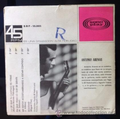 Discos de vinilo: ANTONIO ARENAS - 1966 - Foto 2 - 50533886