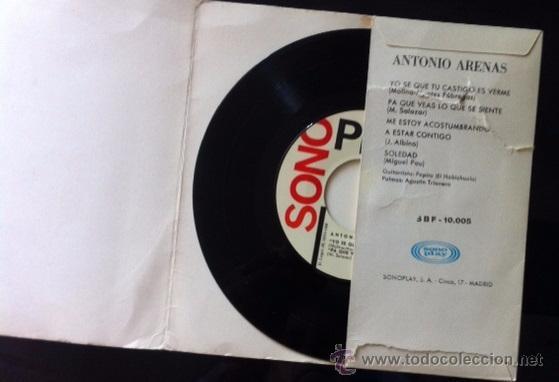 Discos de vinilo: ANTONIO ARENAS - 1966 - Foto 3 - 50533886