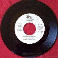 Discos de vinilo: MODESTIA APARTE, COPAS ROTAS (SALAMANDRA 1989) SINGLE PROMOCIONAL. Lote 50535052