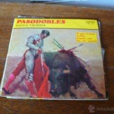 Discos de vinilo: PASODOBLES, BANDA TAURINA / EL GATO MONTÉS / GALLITO / ESPAÑA CAÑÍ / EN ER MUNDO, PALOBAL 1967.. Lote 50535308