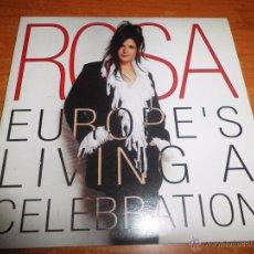 Discos de vinilo: ROSA EUROPE´S LIVING A CELEBRATION CD SINGLE PROMOCIONAL DE CARTON AÑO 2002 TEMA FESTIVAL EUROVISION. Lote 102969323