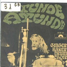 Discos de vinilo: GINGER BAKER DRUM CHOIR / ATUNDE PARTE I Y II (SINGLE 1971). Lote 50536212