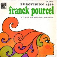 Discos de vinilo: FRANCK POURCEL Y SU GRAN ORQUESTA - GRAND PRIX EUROVISION 1968, EP, CONGRATULATIONS + 3, AÑO 1968. Lote 50542505