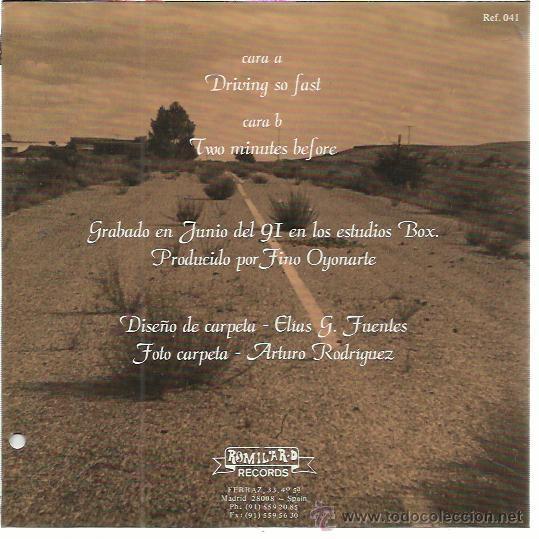 Discos de vinilo: THE AMATEURS Sg ROMILAR D 1991 driving so fast/ two minutes before GARAGE ROCK MALASAÑA SEX MUSEUM - Foto 2 - 50543750