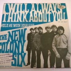 Discos de vinilo: THE NEW COLONY SIX.I WILL ALWAYS THINK YOU.HOLD ME WITH YOUR EYES.ESPAÑA 1968.MERCURY RECORDS. Lote 50548467