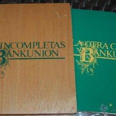 Discos de vinilo: LOTE 5 DISCOS VINILO ESTUCHE MADERA OBRAS INCOMPLETAS DE BANKUNION. Lote 50549118