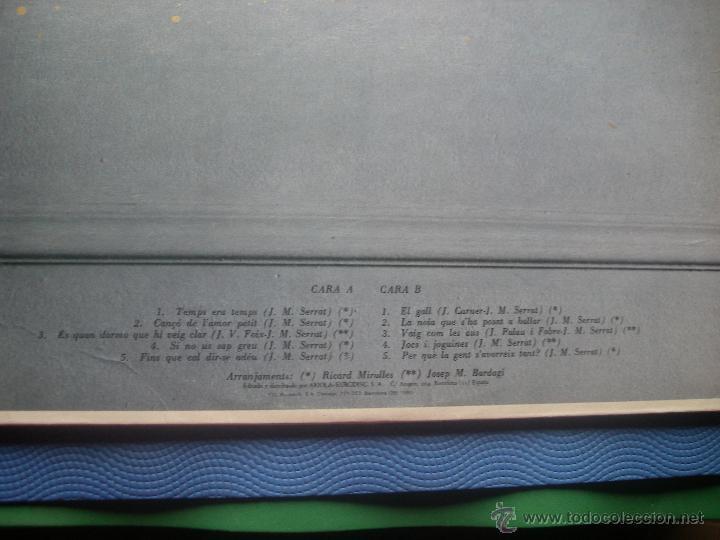 Discos de vinilo: JOAN MANUEL SERRAT LP TAL COM RAJA 1980 ARIOLA SPA PORTADA DOBLE LETRA DE CANCIONES PEPETO - Foto 4 - 50549205