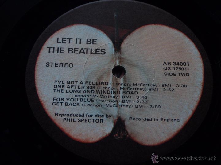 Discos de vinilo: The Beatles – Let It Be USA 1970 Apple Records - Foto 5 - 50549953