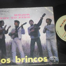 Disques de vinyle: LOS BRINCOS SINGLE. MEJOR. MADE IN SPAIN. 1966.. Lote 50550142