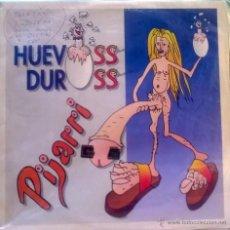 Discos de vinilo: HUEVOSS DUROSS. PIJARRI/ DRÁCULA. SIETE, ESP. 1992 (MAXI) (FIRMADO Y DEDICADO). Lote 50550484