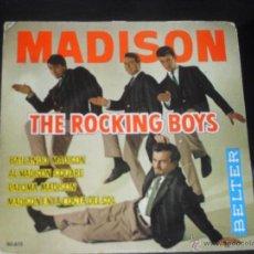 Discos de vinilo: MADISON THE ROCKING BOYS EP. BAILANDO MADISON MADE IN SPAIN. 1962.. Lote 50556138