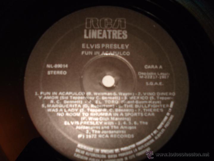 Discos de vinilo: ELVIS PRESLEY - FUN IN ACAPULCO (SPAIN 1987) - Foto 3 - 50556496