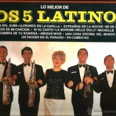 Discos de vinilo: LP LOS 5 LATINOS ( TEMAS DE TONY HATCH, PINO DONAGGIO, BEATLES, CHARLES AZNAVOUR, PALLAVICINI , ETC. Lote 50560322