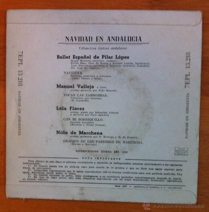 Discos de vinilo: PILAR LÓPEZ, MANUEL VALLEJO, LOLA FLORES, PEPE MARCHENA - Foto 2 - 50561651