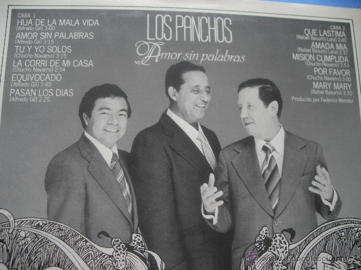 Discos de vinilo: Los Panchos Amor sin palabras lp 1980 cbs spain nuevo¡¡¡¡ PEPETO - Foto 2 - 50561762