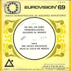 Discos de vinilo: FRIDA BOCCARA... EP 33 RPM. SELLO BELTER AÑO 1969 EDITADO EN ESPAÑA EUROVISION ´69. Lote 50562250