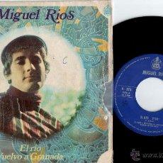 Discos de vinilo: SINGLE DE MIGUEL RIOS EDITADO POR HISPAVOX 1968. EL RIO , Y VUELVO A GRANADA.. Lote 50562408