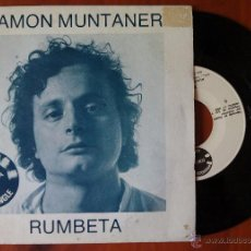 Discos de vinilo: RAMON MUNTANER, RUMBETA + NABAB (EDIGSA 1983) SINGLE PROMOCIONAL - JOAN OLLE XAVIER BRU DE SALA. Lote 50563549