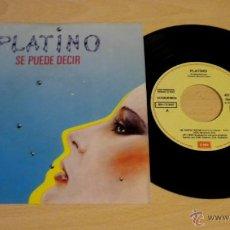 Discos de vinilo: PLATINO (SE PUEDE DECIR) ***SINGLE PROMOCIONAL***NUEVO A ESTRENAR***. Lote 50566111