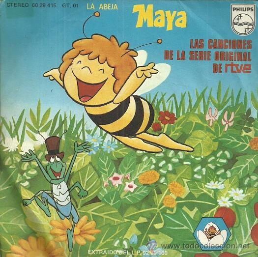 LA ABEJA MAYA SINGLE SELLO PHILIPS AÑO 1977 EDITADO EN ESPAÑA (Música - Discos - Singles Vinilo - Música Infantil)