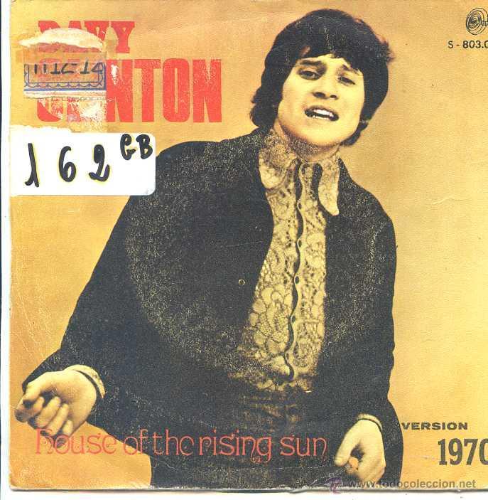 DAVY CLINTON / HOUSE OF THE RISING SUN / ON A ROOFTOP IN MENPHIS (SINGLE 1970) (Música - Discos - Singles Vinilo - Pop - Rock - Extranjero de los 70)