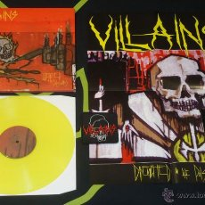 Discos de vinilo: VILLAINS - DRENCHED IN THE POISONS - LP [DIE HARD EDITION]. Lote 50571227