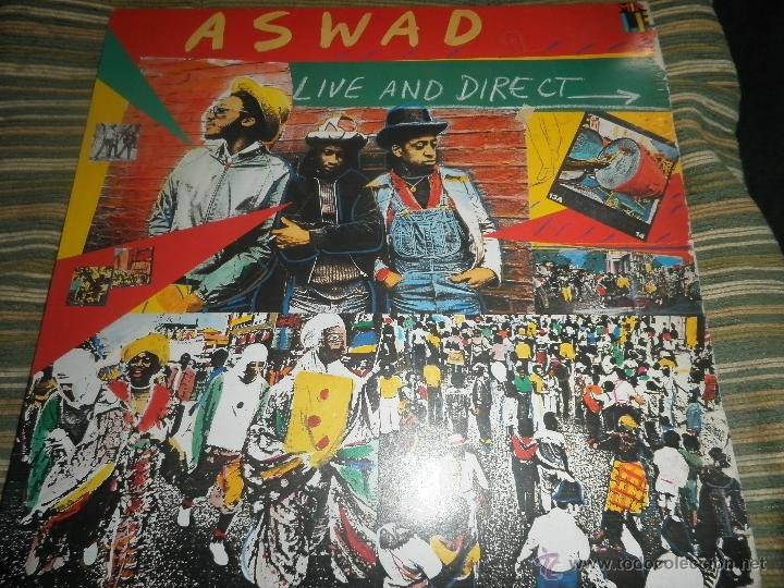 ASWAD - LIVE AND DIRECT LP - ORIGINAL INGLES - ISLAND RECORDS 1983 - STEREO - (Música - Discos - LP Vinilo - Reggae - Ska)