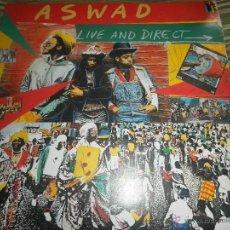 Discos de vinilo: ASWAD - LIVE AND DIRECT LP - ORIGINAL INGLES - ISLAND RECORDS 1983 - STEREO -. Lote 269262738