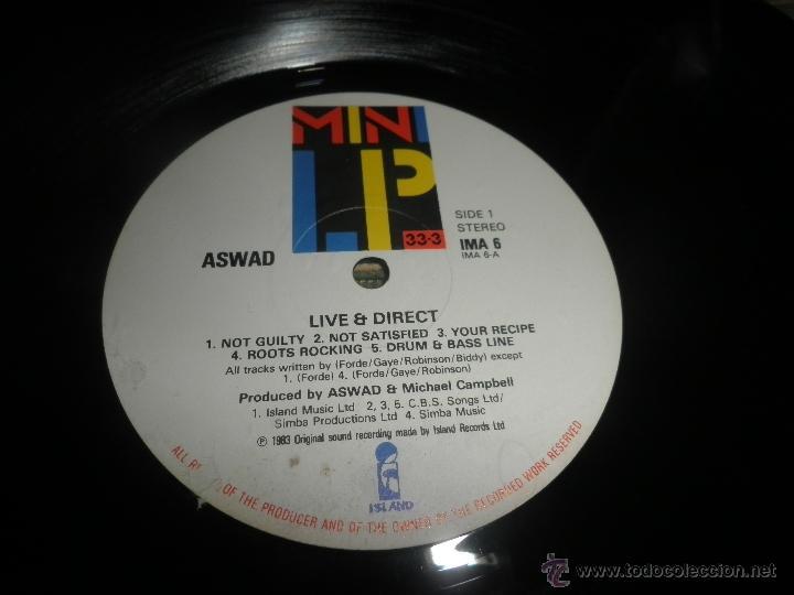 Discos de vinilo: ASWAD - LIVE AND DIRECT LP - ORIGINAL INGLES - ISLAND RECORDS 1983 - STEREO - - Foto 4 - 269262738