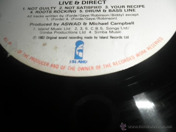 Discos de vinilo: ASWAD - LIVE AND DIRECT LP - ORIGINAL INGLES - ISLAND RECORDS 1983 - STEREO - - Foto 5 - 269262738