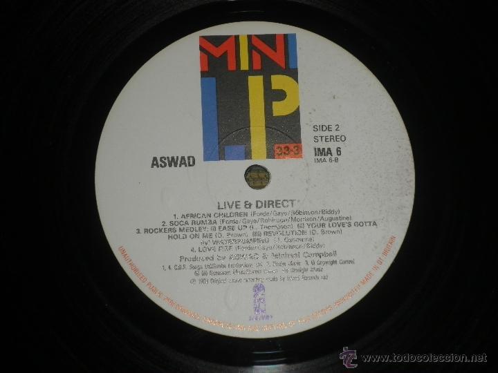 Discos de vinilo: ASWAD - LIVE AND DIRECT LP - ORIGINAL INGLES - ISLAND RECORDS 1983 - STEREO - - Foto 7 - 269262738