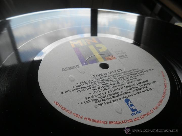Discos de vinilo: ASWAD - LIVE AND DIRECT LP - ORIGINAL INGLES - ISLAND RECORDS 1983 - STEREO - - Foto 10 - 269262738