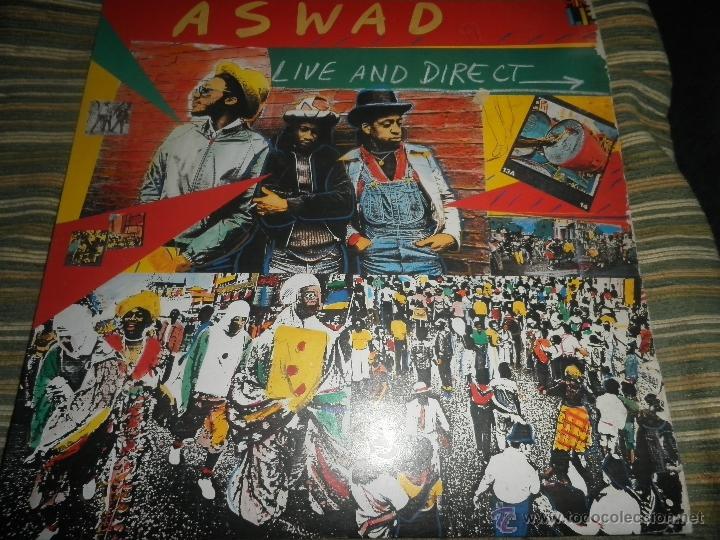 Discos de vinilo: ASWAD - LIVE AND DIRECT LP - ORIGINAL INGLES - ISLAND RECORDS 1983 - STEREO - - Foto 12 - 269262738