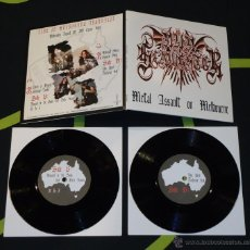Discos de vinilo: NUNSLAUGHTER ?– METAL ASSAULT ON MELBOURNE - DOBLE 7''. Lote 50572518
