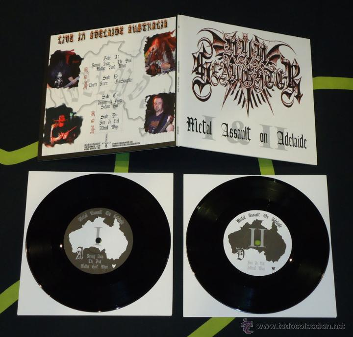 NUNSLAUGHTER – METAL ASSAULT ON ADELAIDE - DOBLE 7'' (Música - Discos de Vinilo - EPs - Heavy - Metal	)